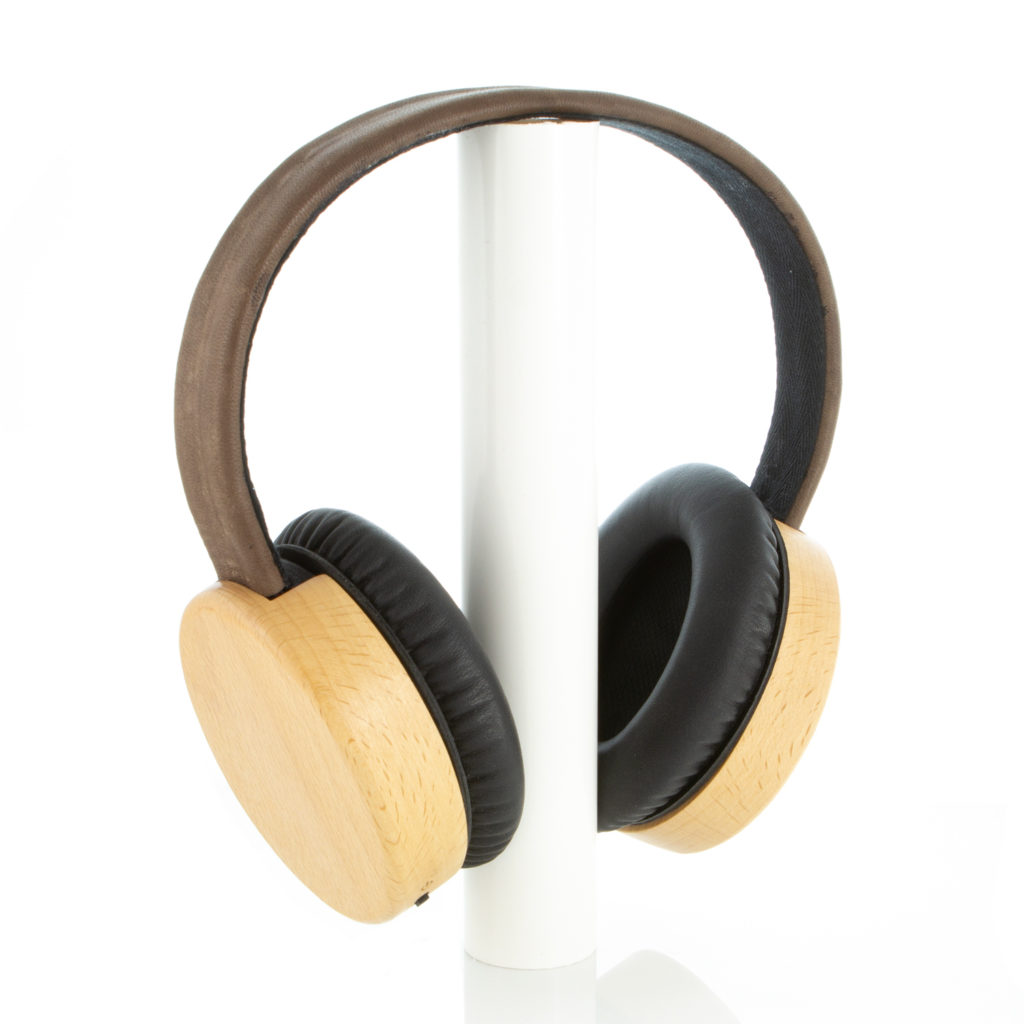 3D printed and wood headphones
